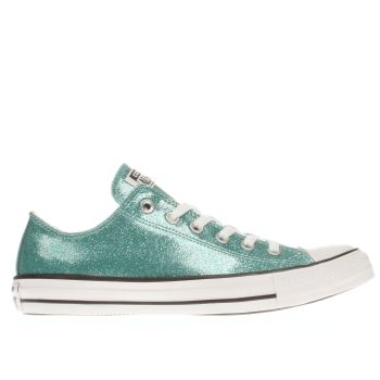 Converse Turquoise Cons As Glitter Ox Trainers
