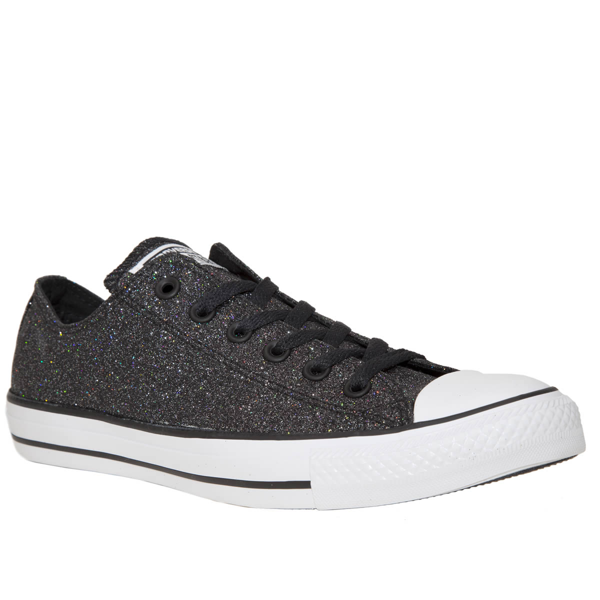 Converse Womens Black Leather