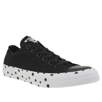 Converse Black & White All Star Polka Dot Ox Womens Trainers