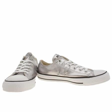 converse metallic silver
