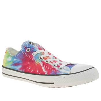 Converse Multi All Star Tie Dye Ox Trainers