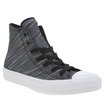 Converse Black & White Chuck Taylor Ii Knit Hi Trainers