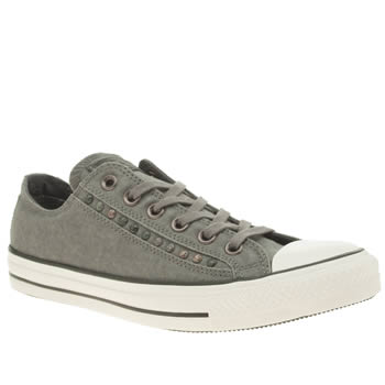 Converse Dark Grey Eyerow Cutout Hardware Ox Trainers