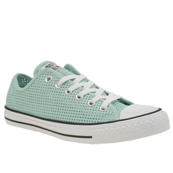 Converse Turquoise All Star Perforated Canvas Ox Womens Trainers