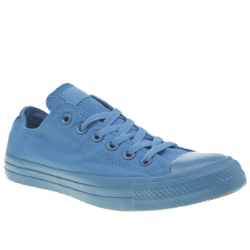 Womens Converse Blue All Star Monochrome Ox Trainers
