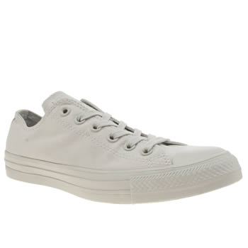 Converse Light Grey All Star Pastel Mono Ox Womens Trainers