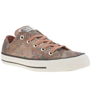 Converse Peach All Star Mountain Landscape Ox Womens Trainers