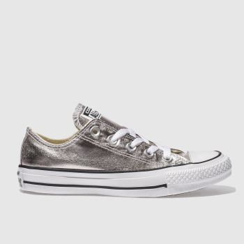 Converse Pale Pink All Star Metallic Ox Womens Trainers