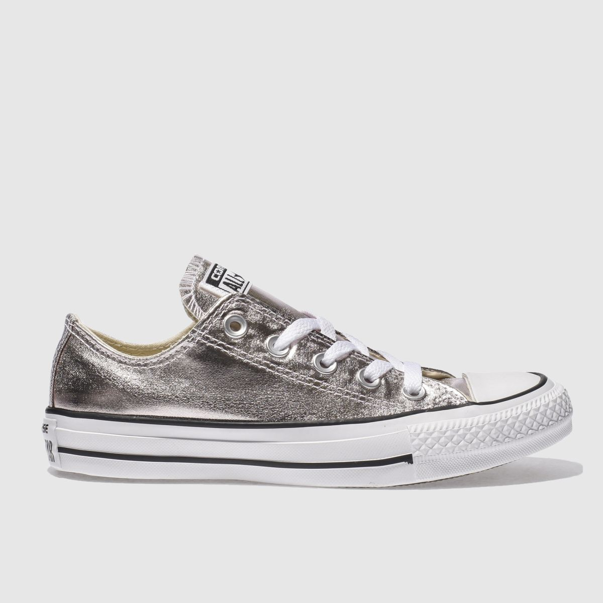 converse pale pink all star metallic ox trainers
