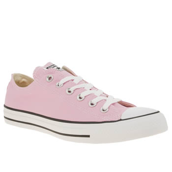 Womens Converse Pale Pink All Star Ox Trainers