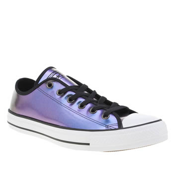 Converse Purple All Star Iridescent Ox Trainers