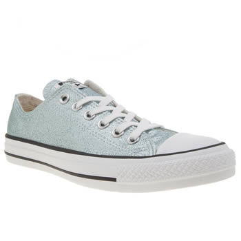 Converse Pale Blue All Star Glitter Ox Trainers