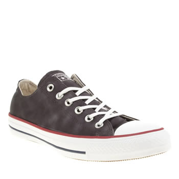 CONVERSE BLACK ALL STAR SHEENWASH OX TRAINERS