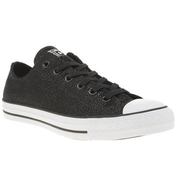 Converse Black & White All Star Sting Ray Leather Ox Trainers