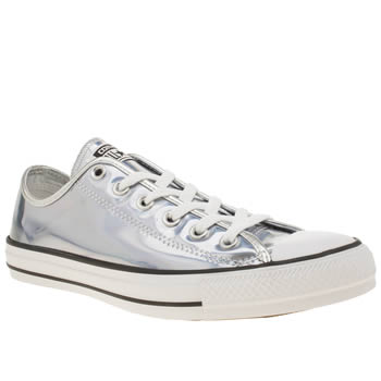 Converse Silver All Star Hologram Ox Trainers