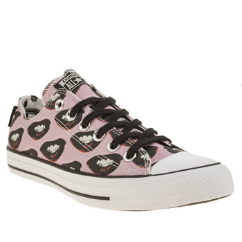 Converse Pink & Black All Star Ox Warhol Marilyn Womens Trainers