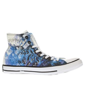 Converse Black and blue All Star Gotham City Sirens Hi Trainers