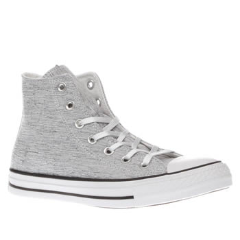 Converse Grey All Star Sparkle Knit Hi Womens Trainers