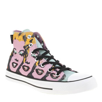 Converse Pink & Black All Star Hi Warhol Marilyn Womens Trainers