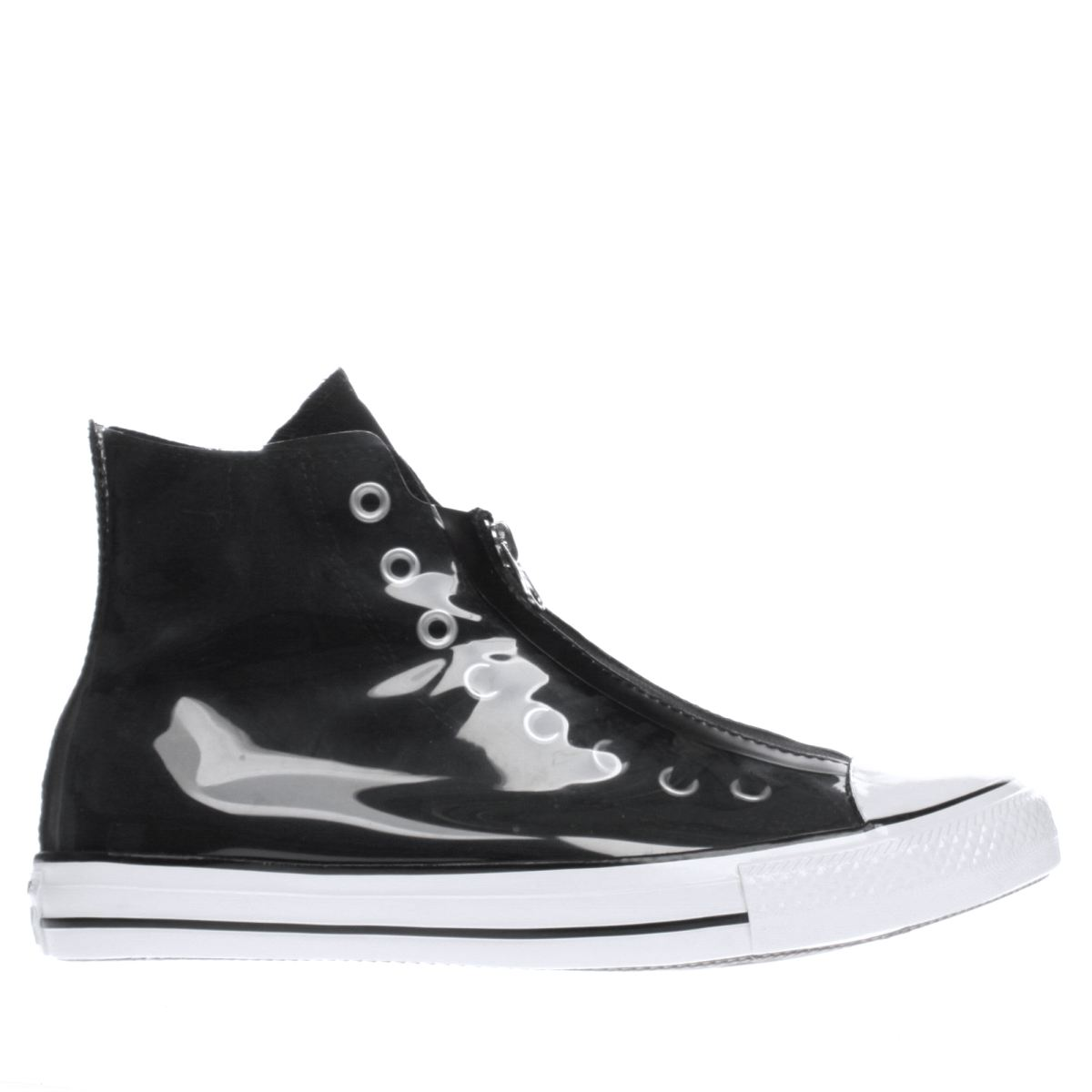 converse black & white shroud translucent hi trainers