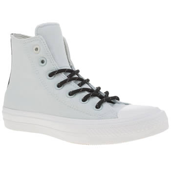 Converse Pale Blue Chuck Taylor Ii Shield Hi Womens Trainers