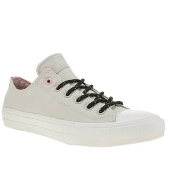 Converse Light Grey Chuck Taylor Ii Shield Ox Womens Trainers