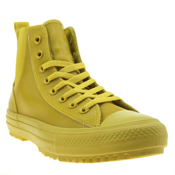 Converse Yellow Chelsea Rubber Hi Trainers