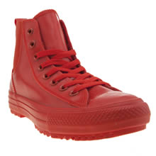 Converse Red Chelsea Rubber Hi Womens Trainers