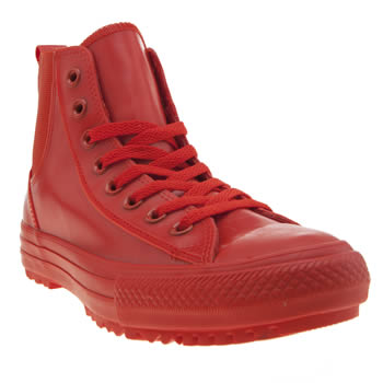 Converse Red Chelsea Rubber Hi Trainers
