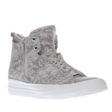 Converse Light Grey Selene Winter Knit Hi Womens Trainers