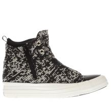 Converse Black & White Selene Winter Knit Hi Womens Trainers