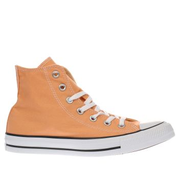 Converse Orange All Star Canvas Hi Womens Trainers
