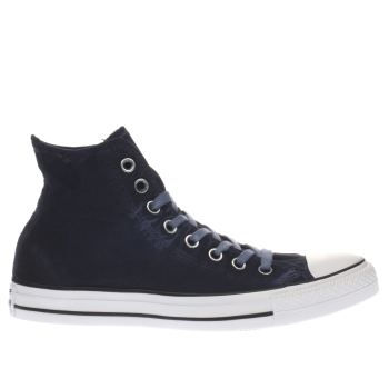 Converse Navy All Star Kent Wash Hi Womens Trainers