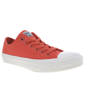 Converse Red Chuck Taylor All Star Ii Neon Womens Trainers