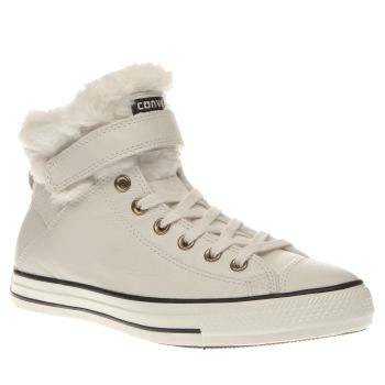 Converse Stone All Star Hi Brea Leather & Fur Womens Trainers