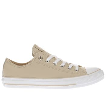 Converse Natural All Star Leather Ox Womens Trainers