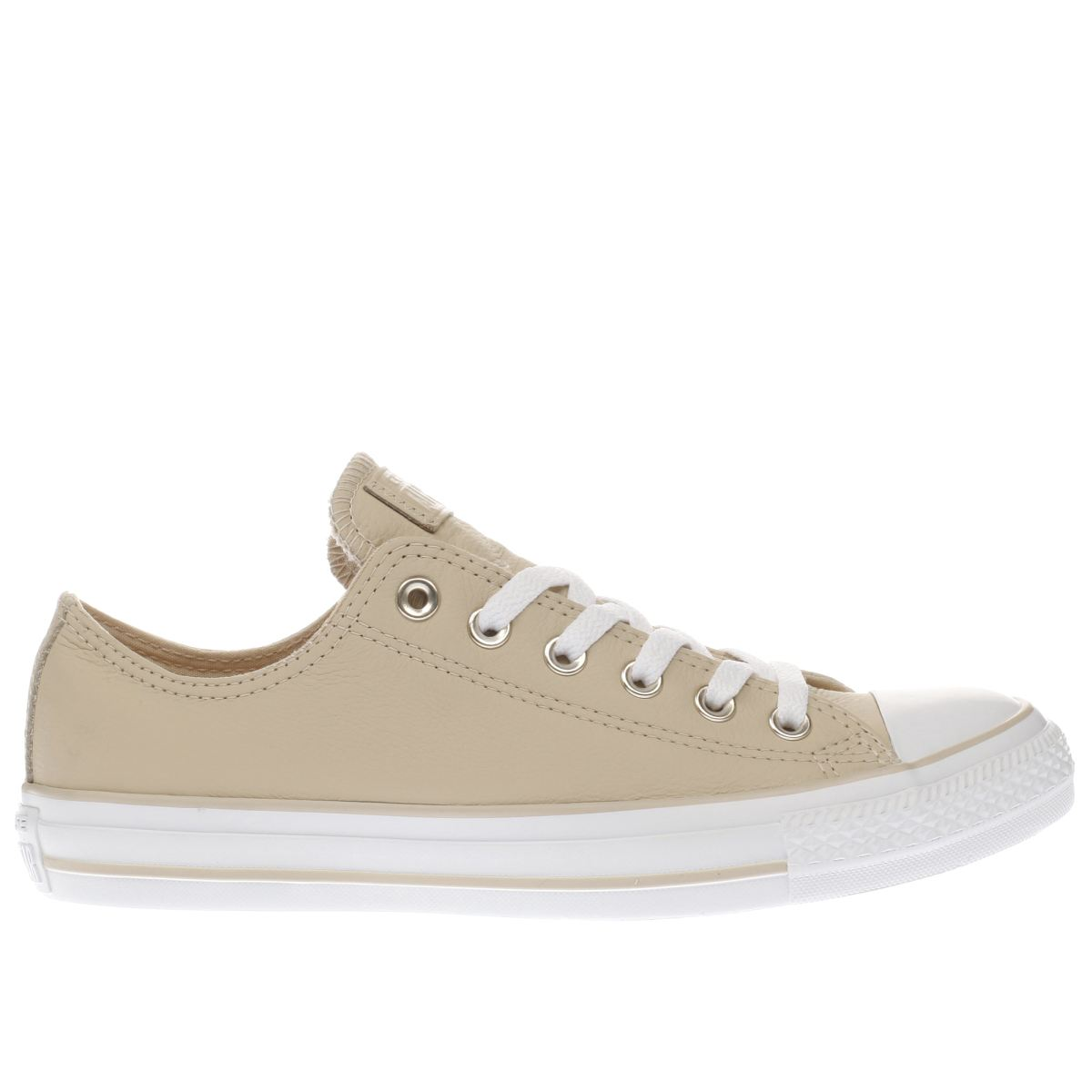 converse natural all star leather ox trainers