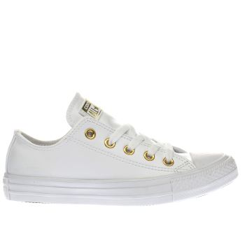 Converse White & Gold Chuck Taylor All Star Craft Ox Womens Trainers