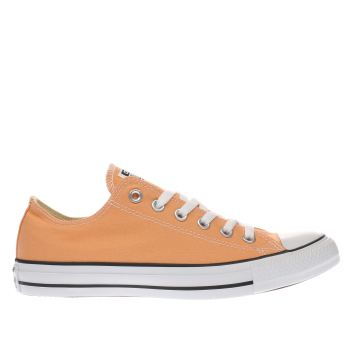Converse Orange All Star Canvas Ox Womens Trainers