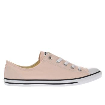 Converse Pale Pink All Star Dainty Canvas Ox Trainers