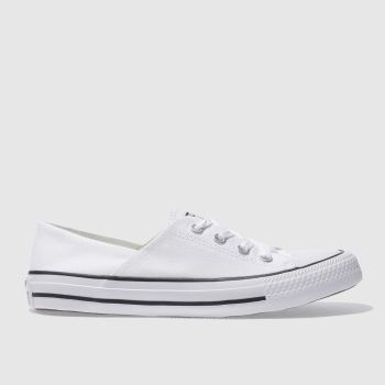 Converse White Coral Canvas Ox Womens Trainers