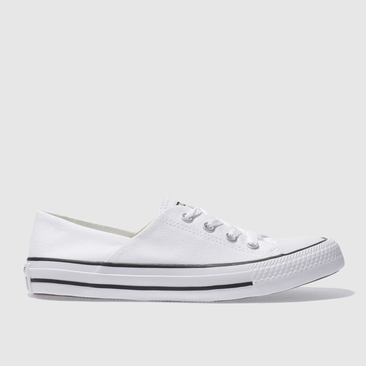 converse white & black coral canvas ox trainers