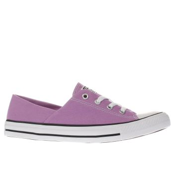 CONVERSE PURPLE CORAL CANVAS OX TRAINERS
