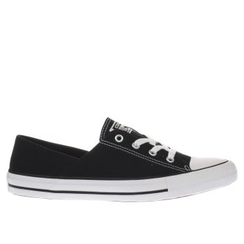 Converse Black Coral Canvas Ox Womens Trainers