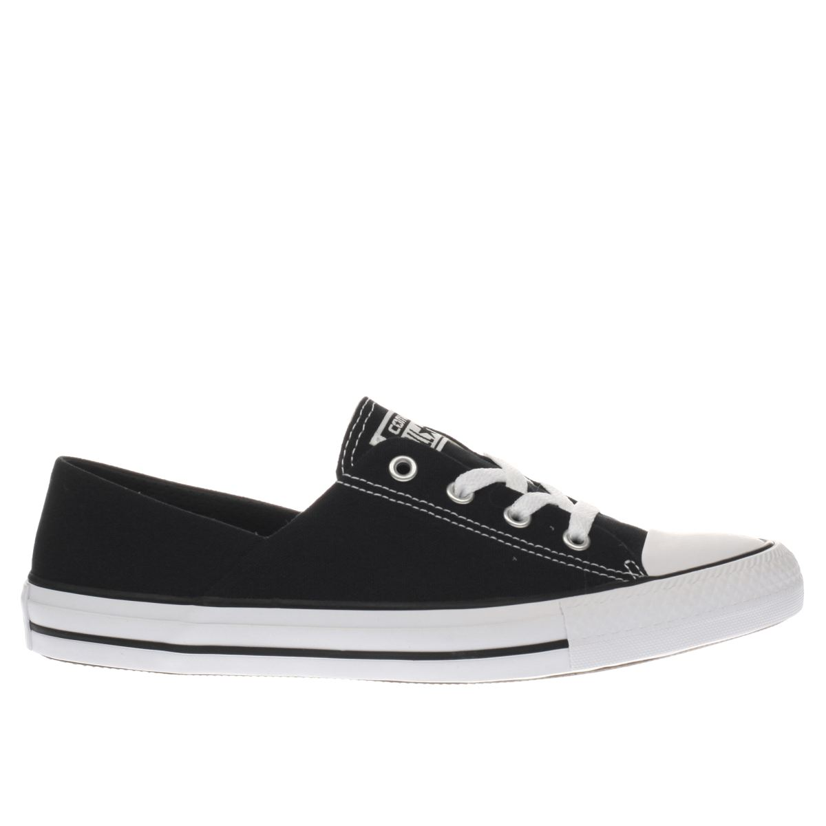 converse black & white coral canvas ox trainers