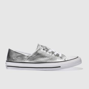 Converse Silver Coral Metallic Canvas Ox Womens Trainers