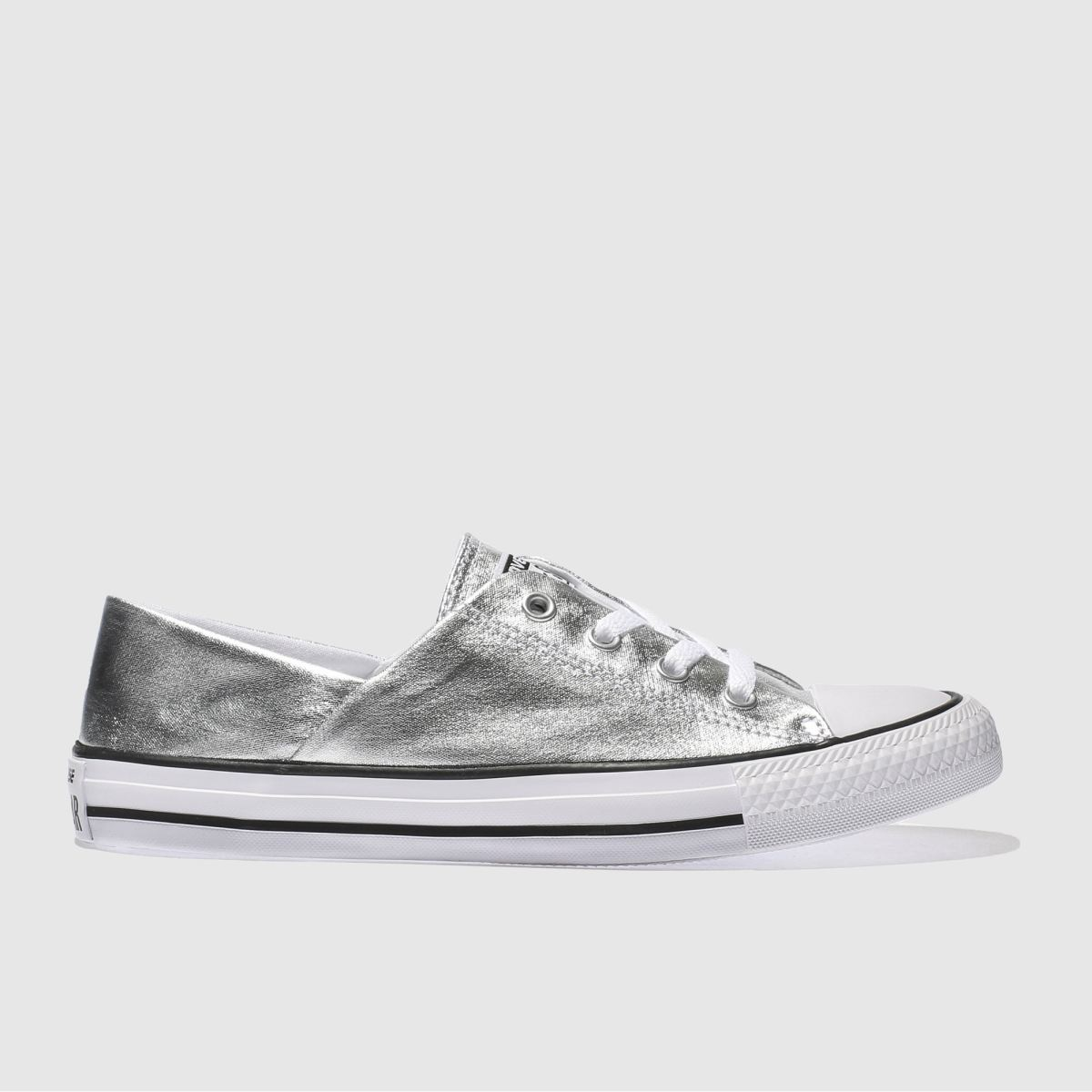 Converse Silver Coral Metallic Canvas Ox Trainers