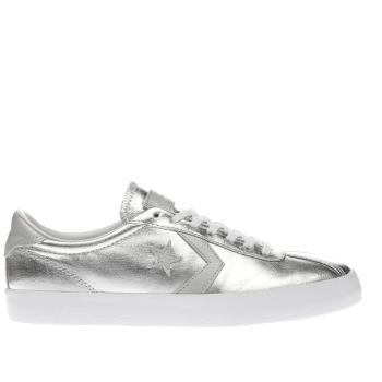 CONVERSE SILVER BREAKPOINT METALLIC TRAINERS