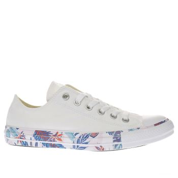 Converse White All Star Floral Tape Ox Womens Trainers