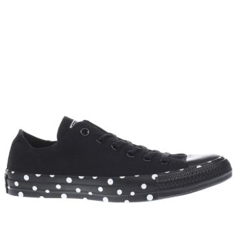 Converse Black & White All Star Polka Tape Ox Trainers